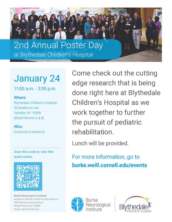 2nd Annual Poster Day at Blythedale Children's Hospital