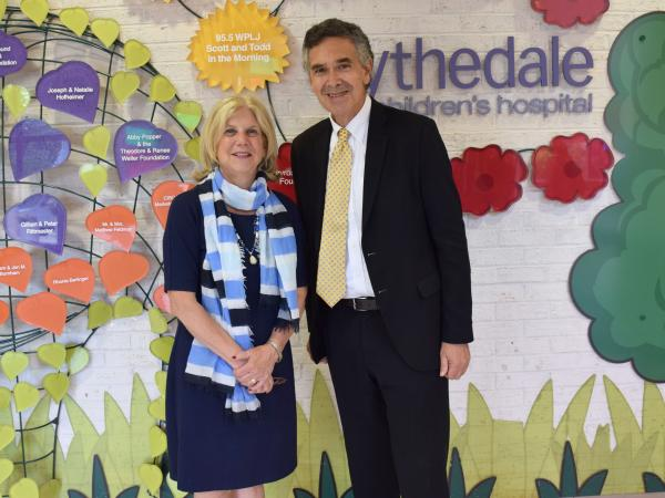 New York State Senator Shelley Mayer and Blythedale President & CEO Larry Levine